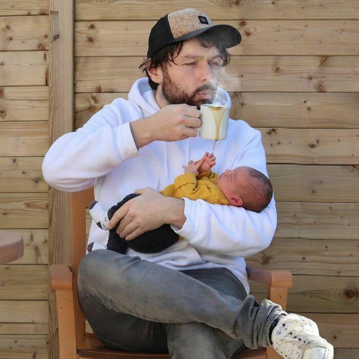 5 Pai faz essas fotos hilárias quando sua esposa pede para ele ficar sozinho com as crianças; confira